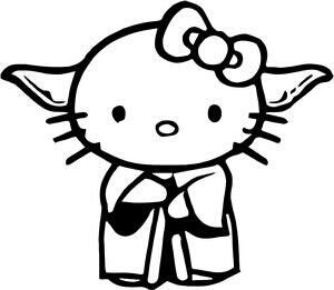 Black And White Star Wars Hello Kitty Google Search Hello Kitty Characters Hello Kitty Hello Kitty Coloring