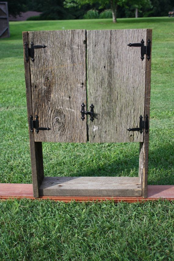 SALE Barn Wood Cabinet Vanity Toilet Cabinet Rustic Weathered Bookcase Medicine  Cabinet Bathroom Cabinet Cabin Decor
