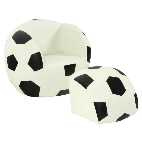Soccer Ball Lounge  Footrest  Kids chair childrens seat