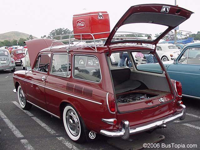 Volkswagen Variant Wagon With Vintage Cooler And Roof Rack Volkswagen Squareback Vintage Volkswagen Volkswagen