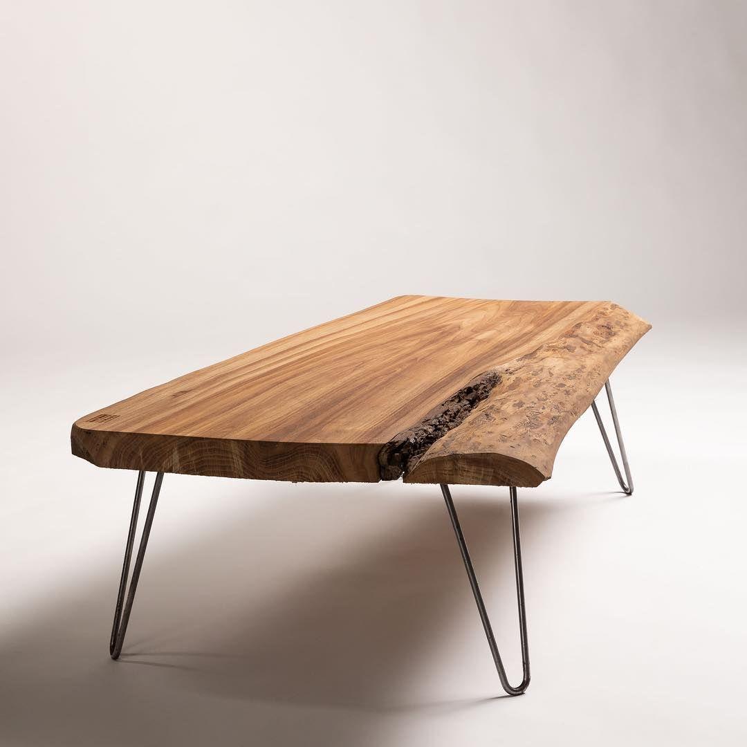 Designer Bois Fer On Instagram La Table Basse Par C Thomas Berard Bois Fer Realisee Avec De L Orme Une Essence Rar Coffee Table Table Furniture