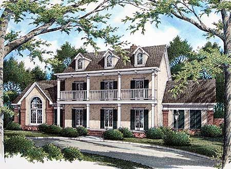 Plan W5579BR: Southern, Plantation Style, Corner Lot, Photo Gallery House  Plans U0026 Home Designs