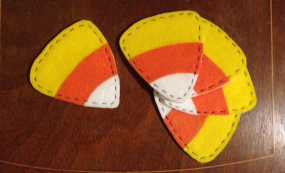 Halloween Candy Corn Coasters by BeeAndHill on Etsy