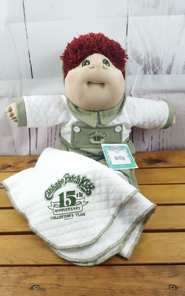 Cabbage Patch Kids 15th Anniversary Collector 039 S Club Billy 9 Patch Kids Cabbage Patch Kids Cabbage Patch