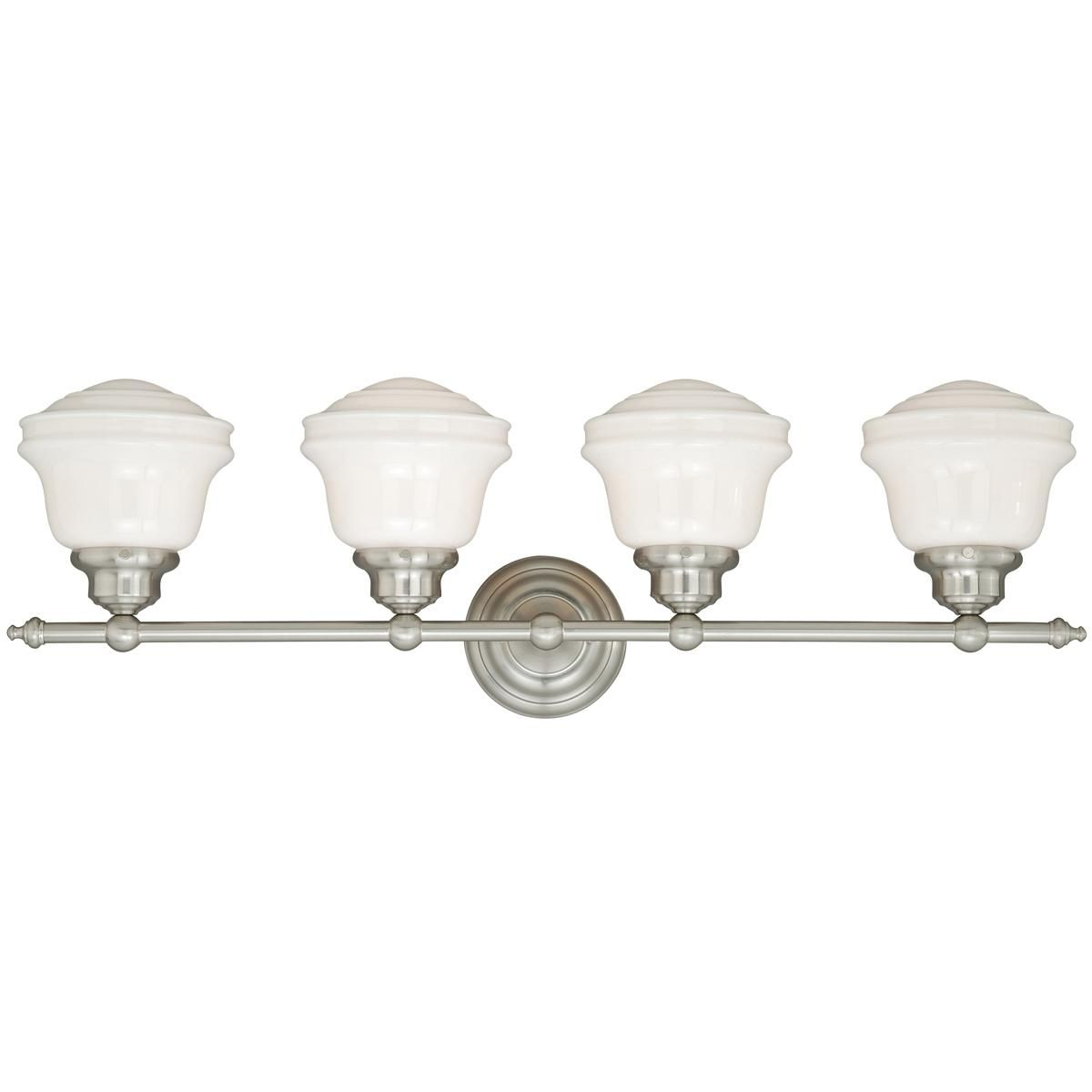 Photo of Milk Glass Bath Light – 4 Light
