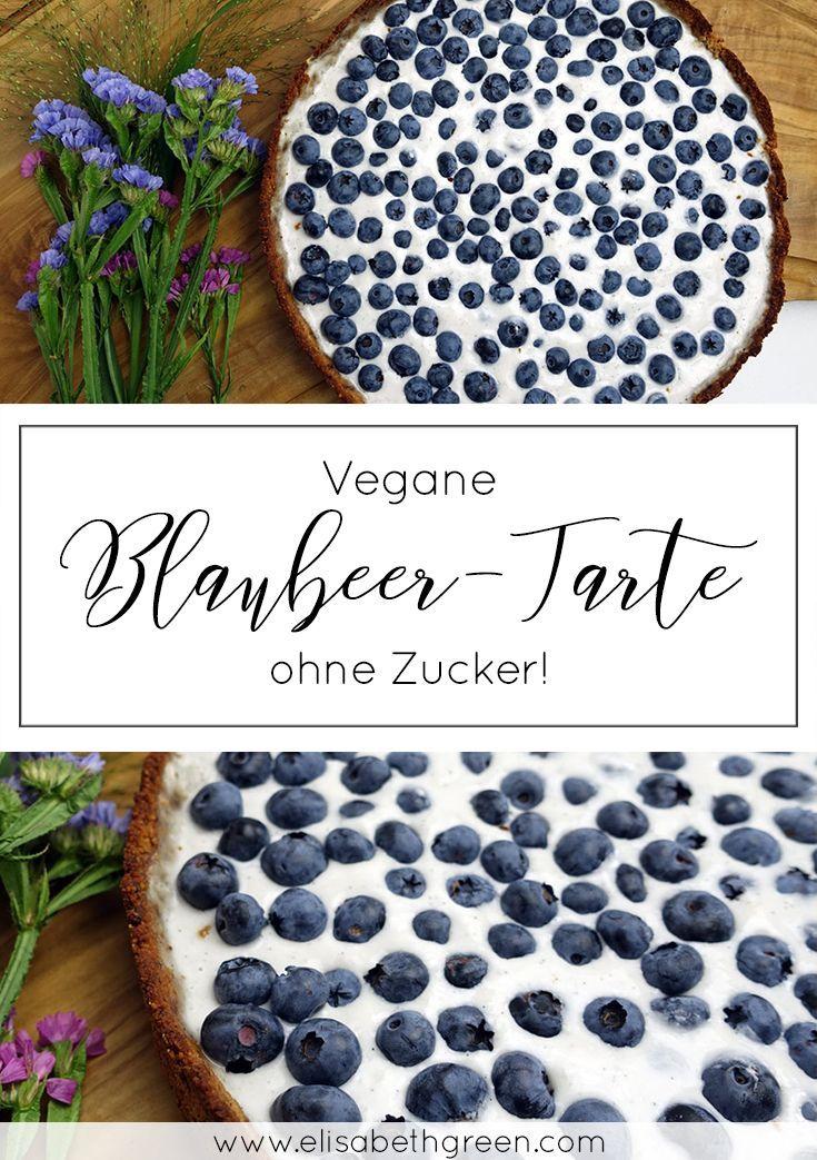 Blaubeer-Tarte | zuckerfrei, vegan, glutenfrei, paleo