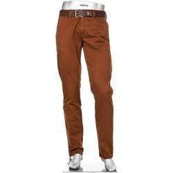 Photo of Alberto Men's Chinos Lou, Regular Slim Fit, Cotton, Reddish Brown Alberto
