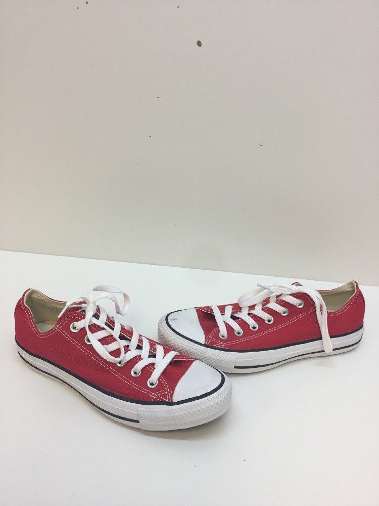 f7ae5d0c1c9a Converse All Star Red/White Canvas Lace Up Low Top Shoes Mens Size 6 ...