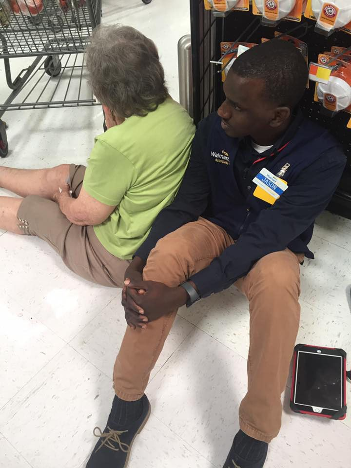 Facebook post showing act of kindness love at walmart