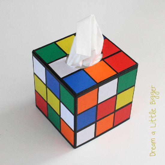 rubik's cube tissue box 3