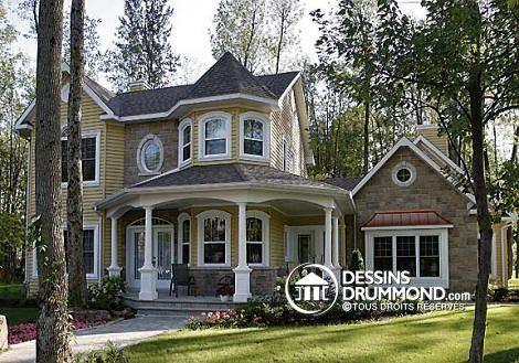 Plan de maison W2896, champêtre, country, house style, home ideas - idee de plan de maison