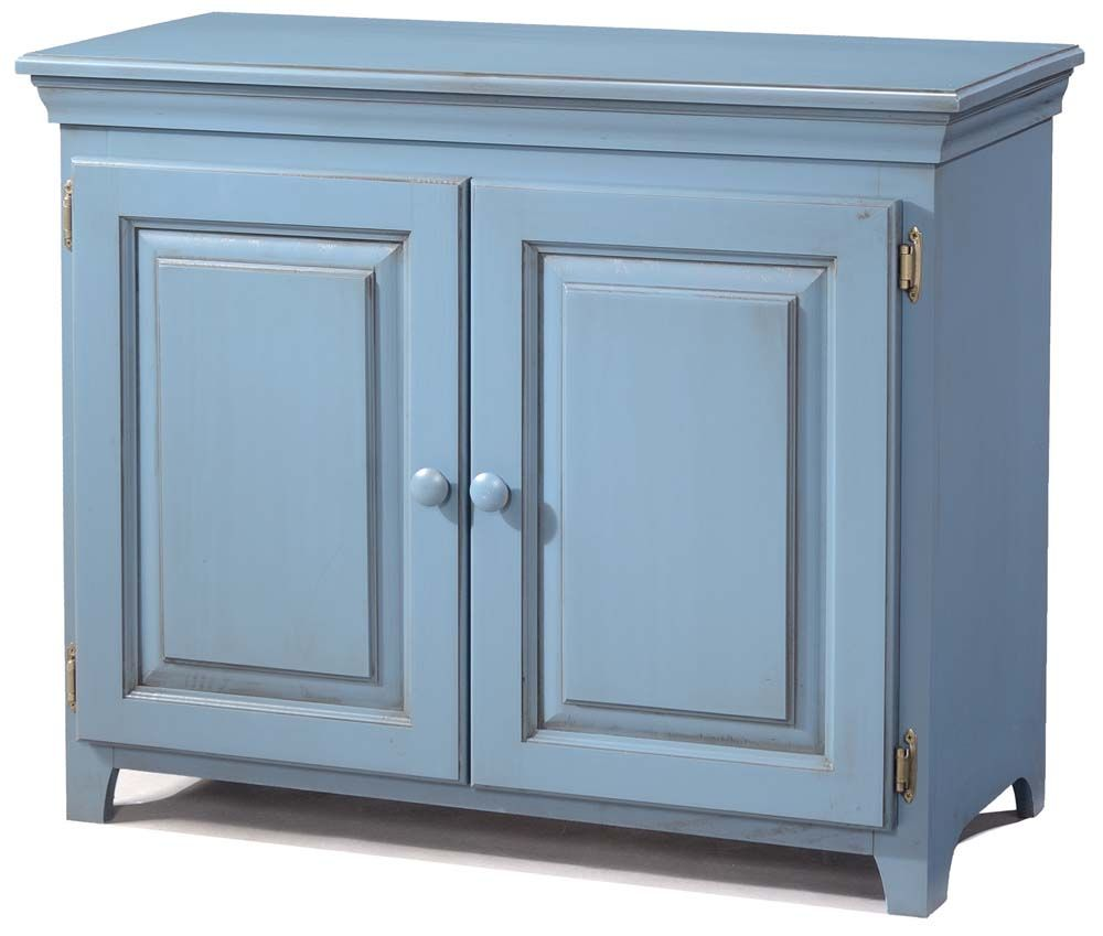 ARCH00573 Pine 2 Door Console Cabinet $259 Unfinished Shown in Blue ...