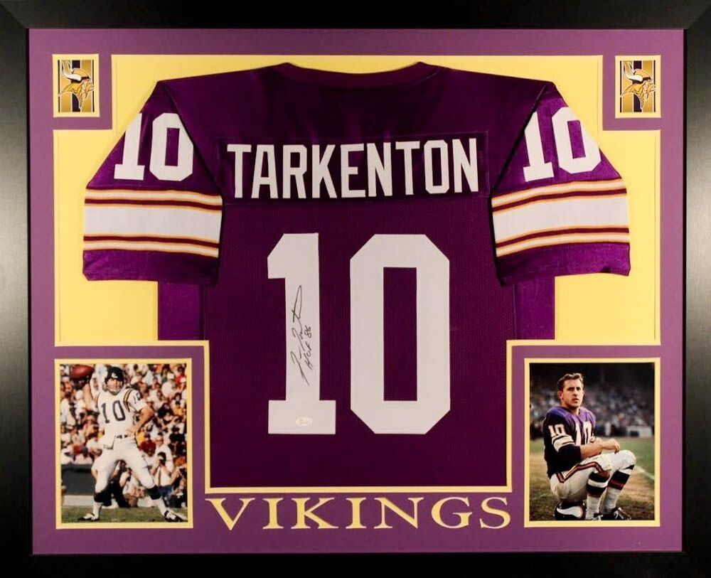 timeless design d3425 2e4fc Fran Tarkenton Autographed Signed Framed Minnesota Vikings ...
