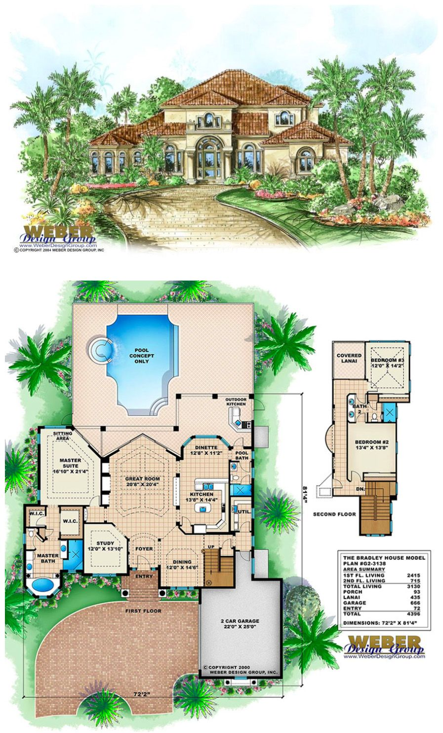 3 Bedroom Houses For Rent In Cleveland Ohio West Side: Mediterranean House Plan: 2 Story Coastal Mediterranean