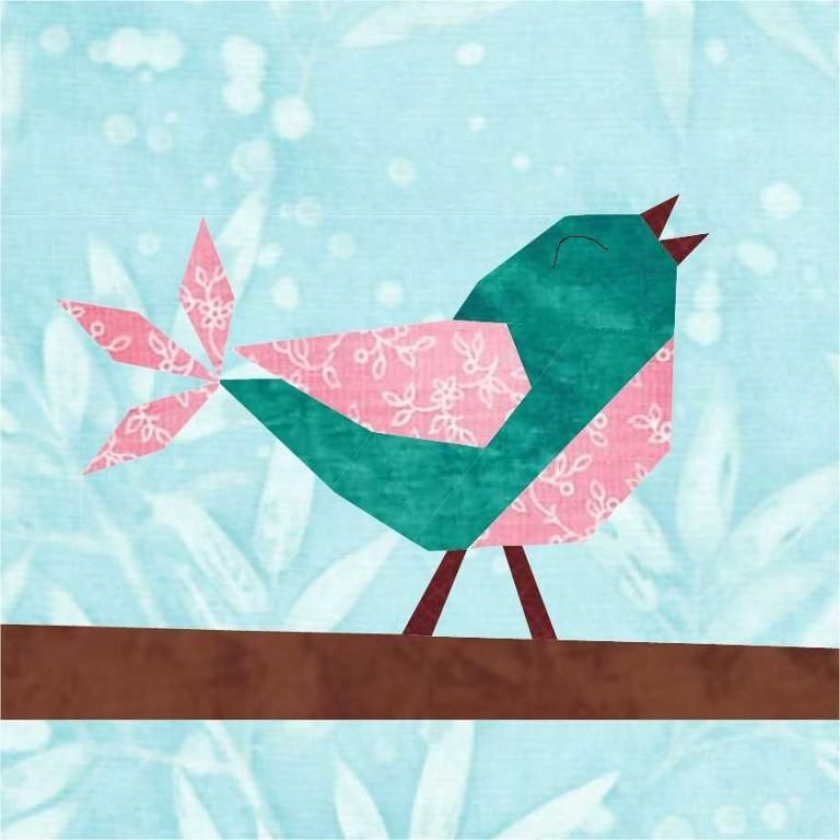 7 Name Quilting Songbird Paper Pieced Block Pattern
