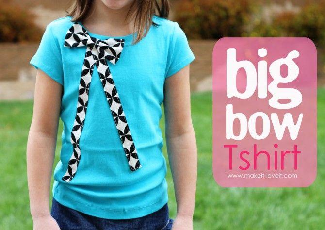 big bow shirt