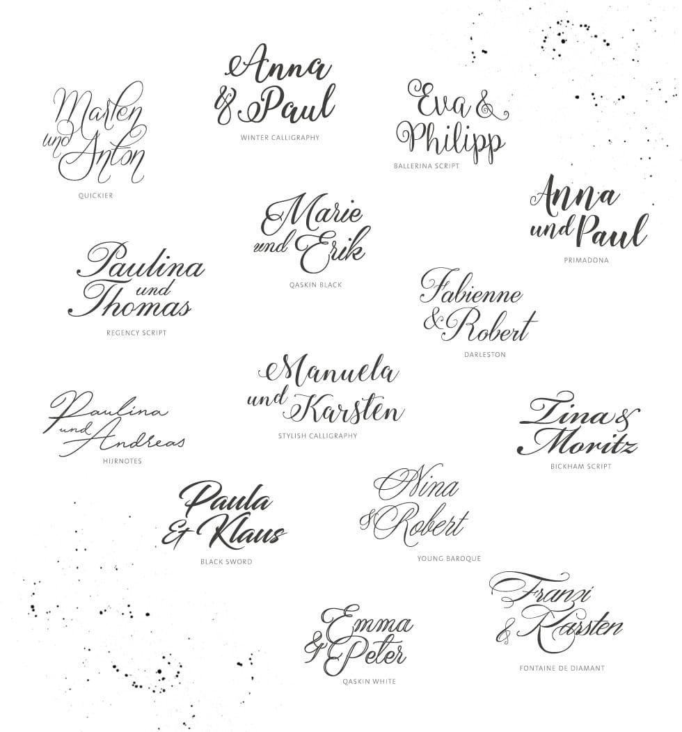 Die 55 schönsten Freefonts zum Download für eure Hochzeitseinladungen #ribbonart