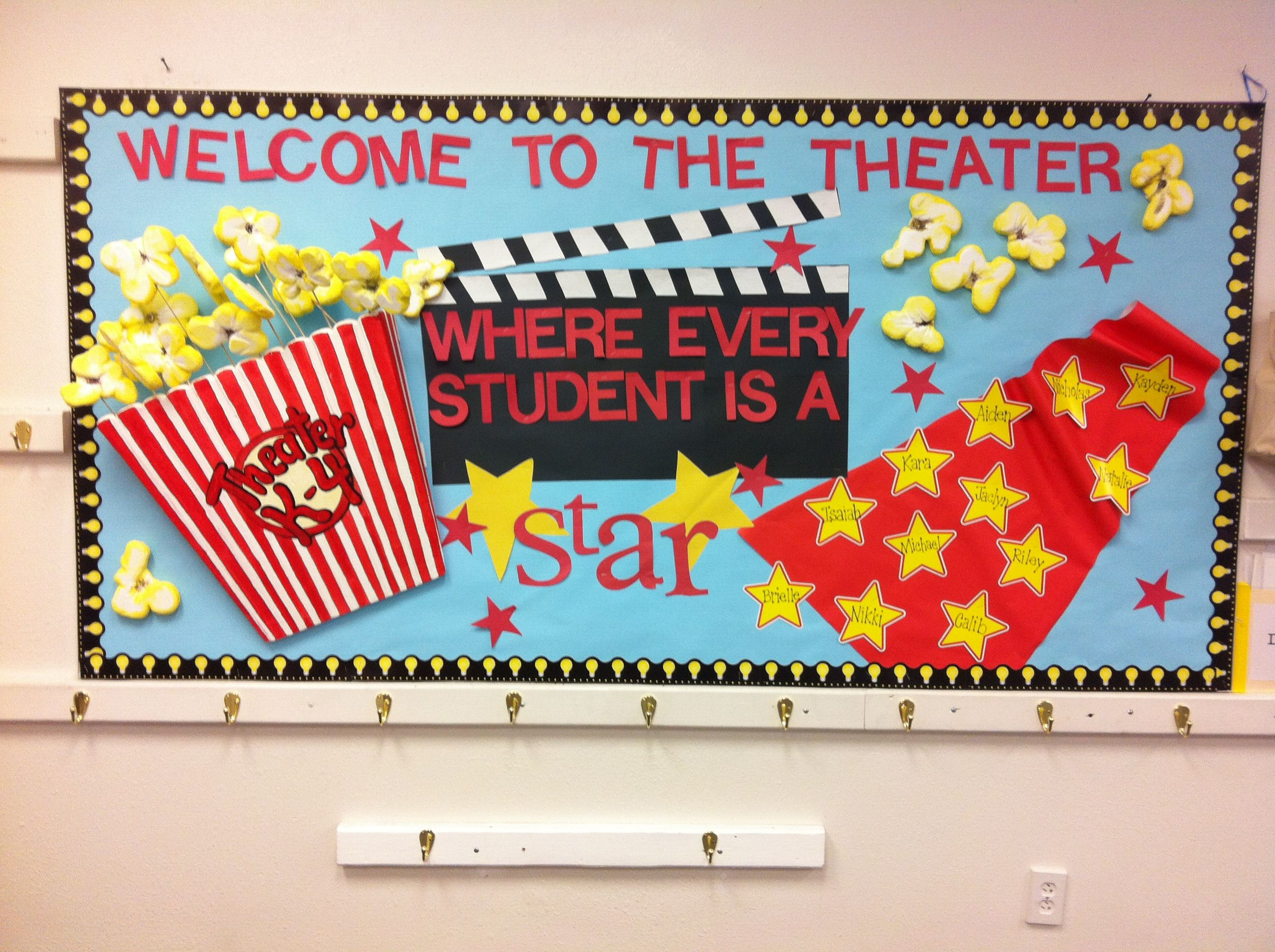 Classroom Notice Board Ideas ~ Movie theater classroom theme share school pinterest