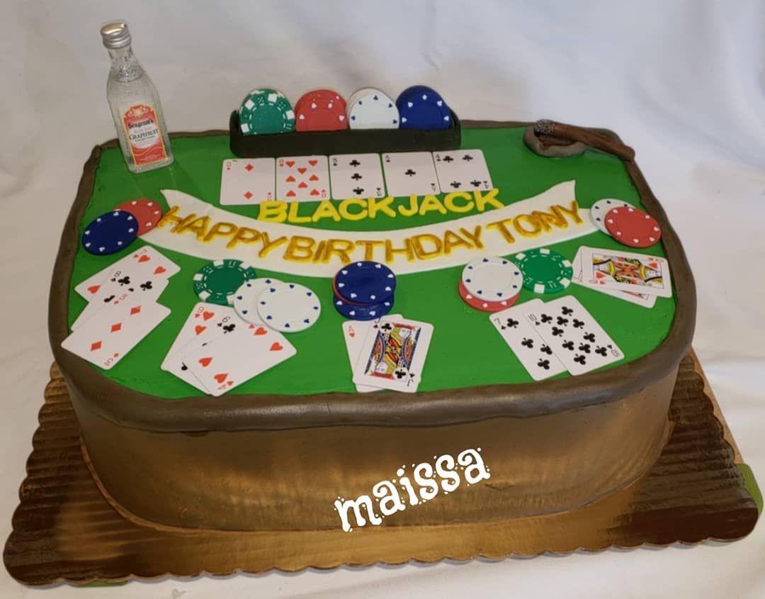 #casino #cake #birthday #playingcards #buttercream #vodka ...