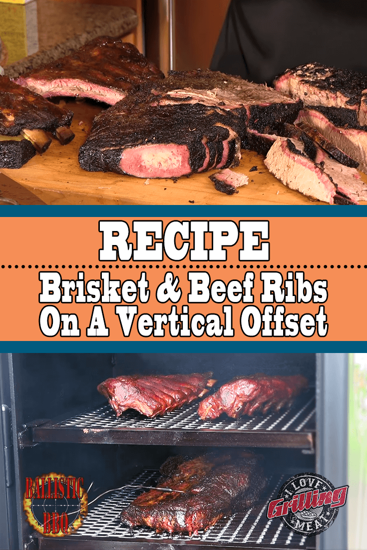 Smoked Brisket And Beef Ribs On Vertical Offset Smoker Beef Ribs Smoked Beef Brisket Recipes Smoked Beef Ribs Recipe