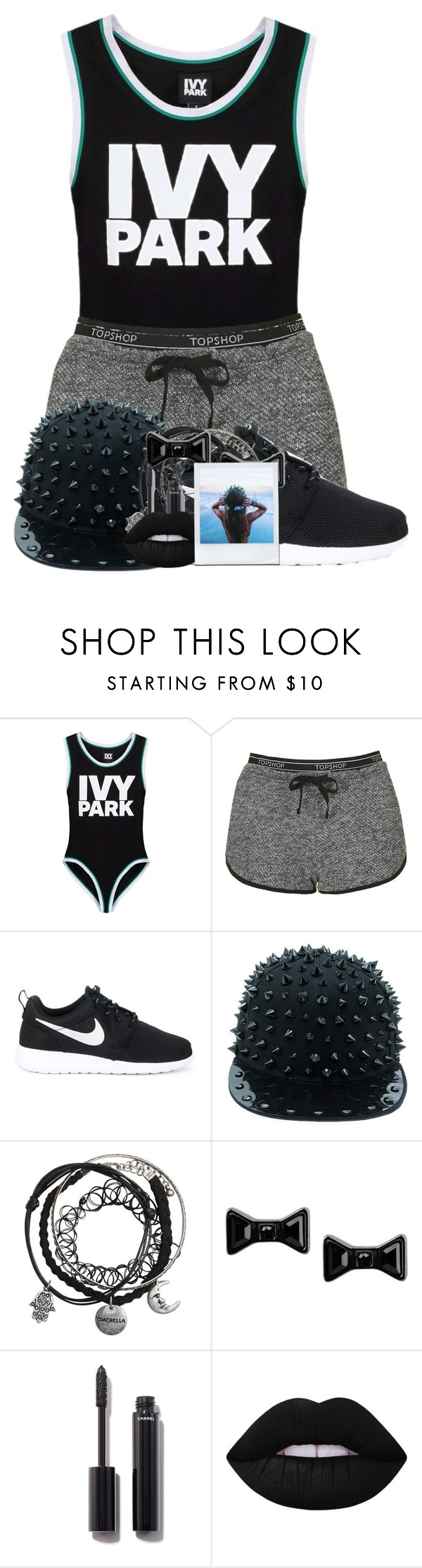 """""""Ivy Park"""" by fashionista-heart ❤ liked on Polyvore featuring Ivy Park, Topshop, NIKE, Marc by Marc Jacobs, Chanel and Lime Crime"""
