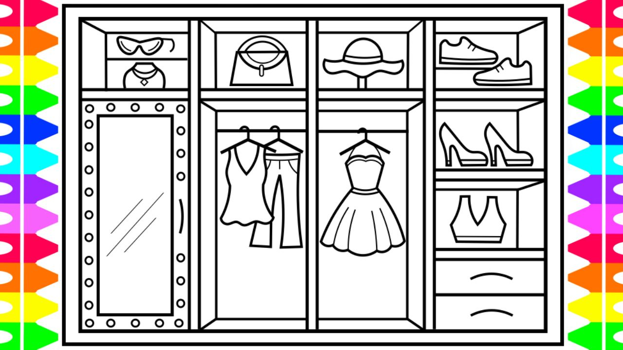 How To Draw A Closet With Clothes Closet Drawing And