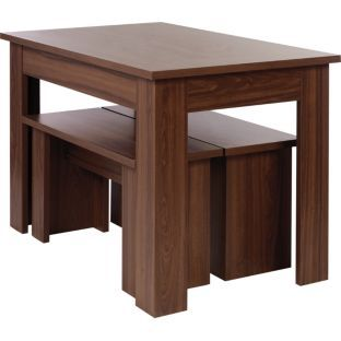 Buy Warsaw Walnut Melamine Dining Table and 2 Benches at Argos.co.uk - Your Online Shop for Dining sets, Dining tables and chairs, Limited stock Home and garden.