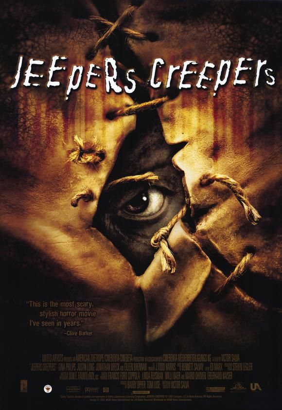 Jeepers Creepers Jeepers Creepers Movie Poster 1 Sided Original 27x40 Ebay Jeepers Creepers Horror Movie Icons Scary Movies