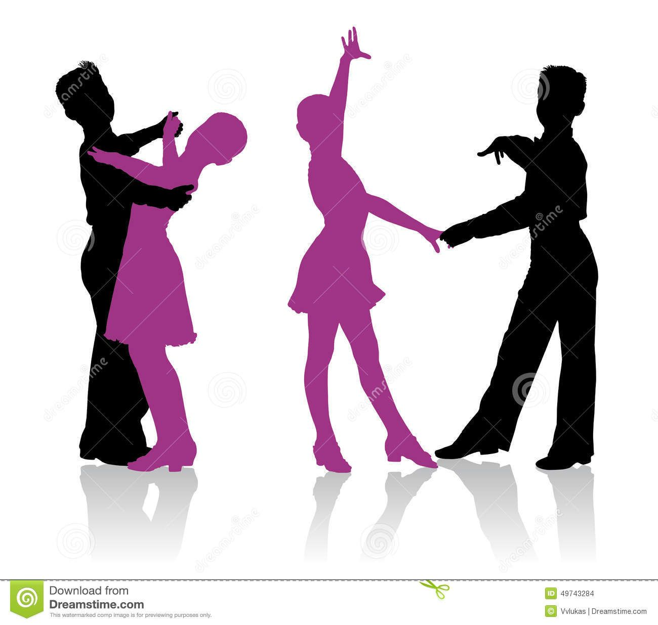 d1eab2e78648 Silhouettes Of Kids Dancing Ballroom Dance - Download From Over 39 ...