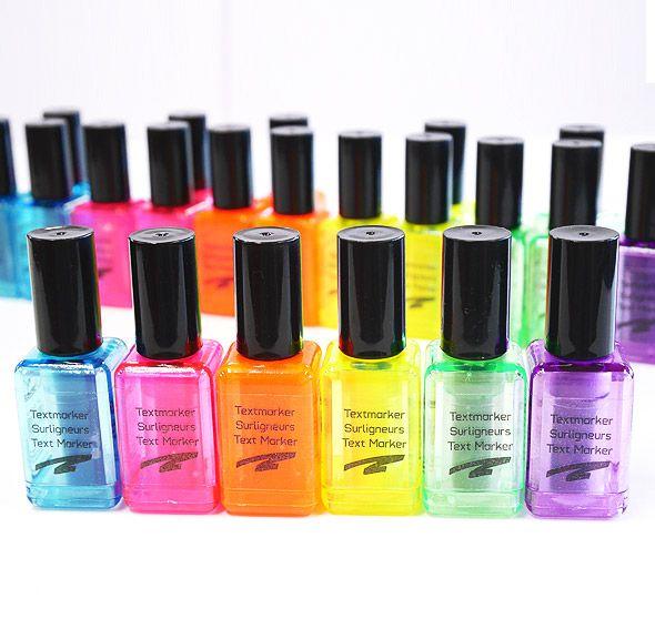 Nail Polish Highlighter! Looks like nail polish, but is actually highlighter marker!