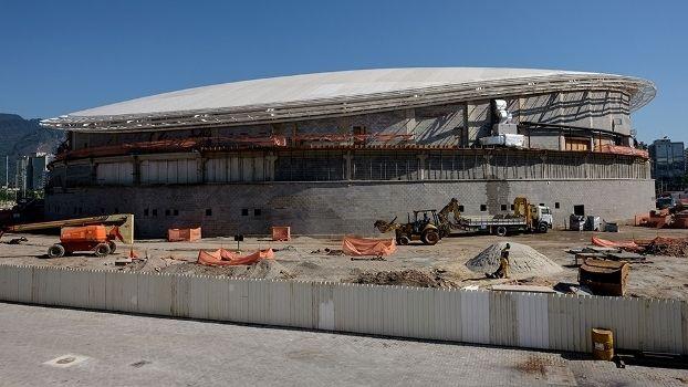 Imagem do Velódromo do Rio 2016, que seria entregue neste sábado, em março