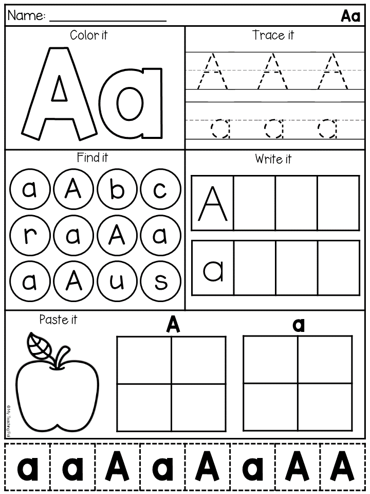 Alphabet Worksheets - Letter Work | TpT Language Arts Lessons ...