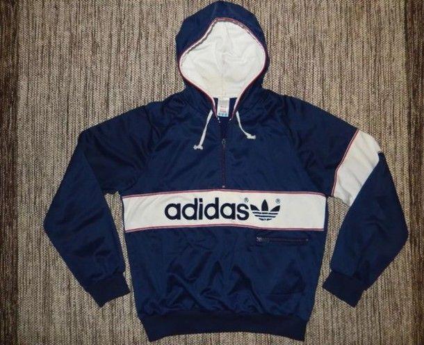 e44ddf6f29ca Adidas Vintage Hoodie   Fashion   Pinterest   Adidas, Hoodies and ...