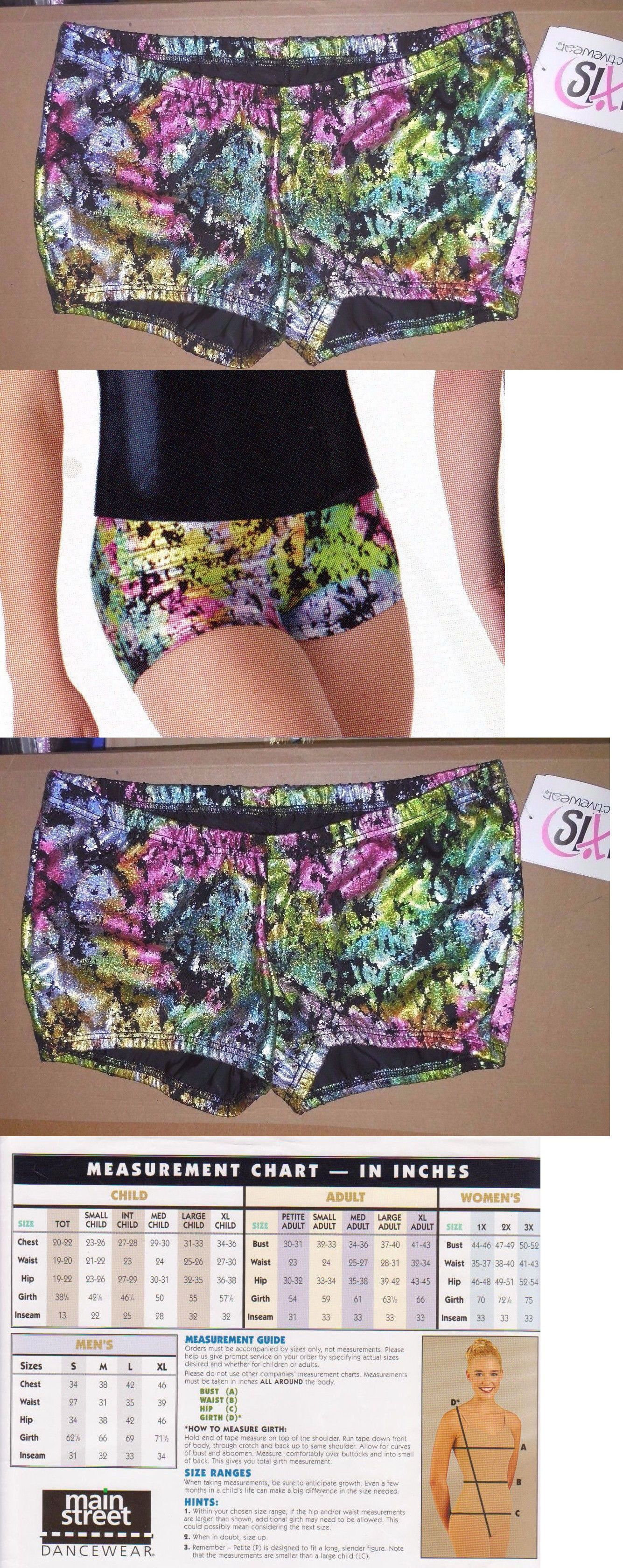 Axis Booty Shorts Dance Gymnastics Multi Color Foil Print Girls Sizes 75086