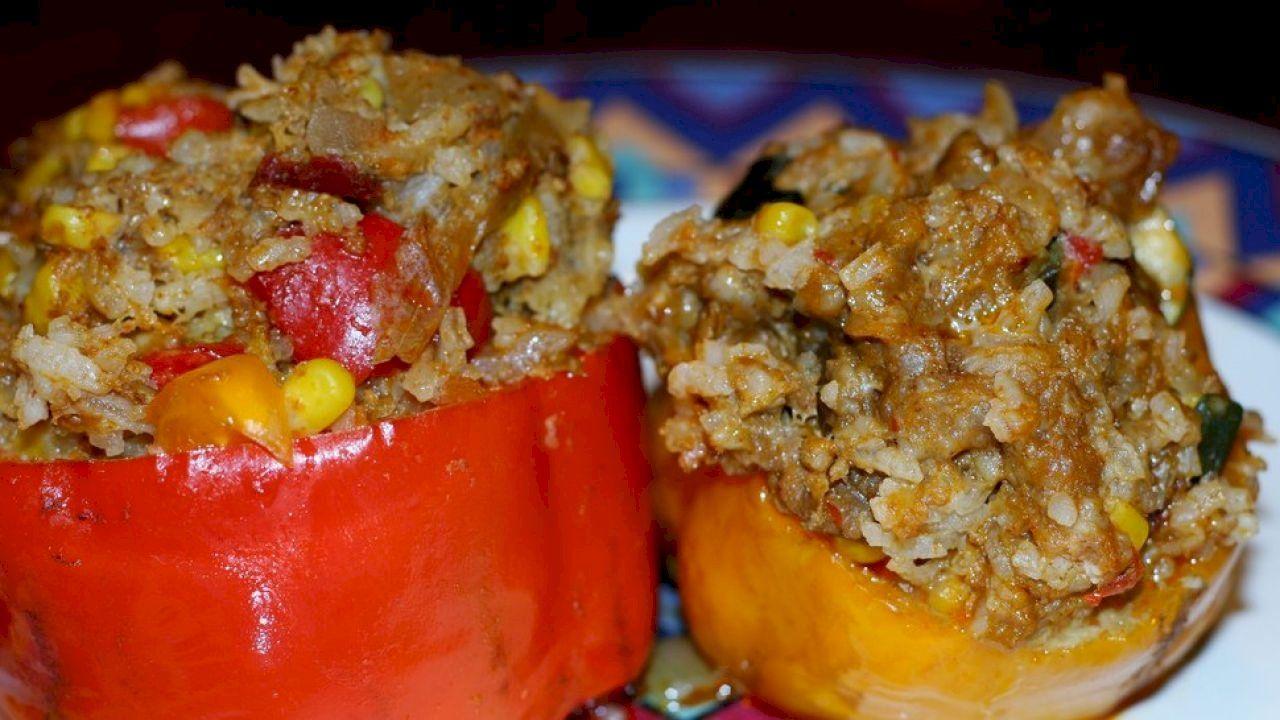 طريقة عمل خلطة المحشى Italian Recipes Easy Stuffed Peppers Recipes