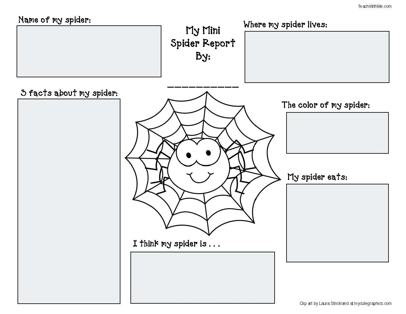 Spider activities and games that teach venn diagram template spider activities and games that teach ccuart Gallery