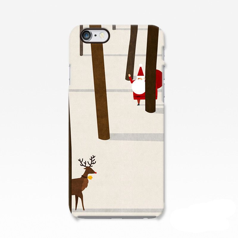 Santa Claus Iphone 6 Case Womens Christmas Reindeer Iphone