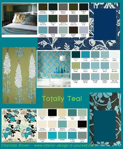 Charlotte Brown S Totallyteal Moodboard Teal Color Palette Teal Color Schemes Interior Design Basics