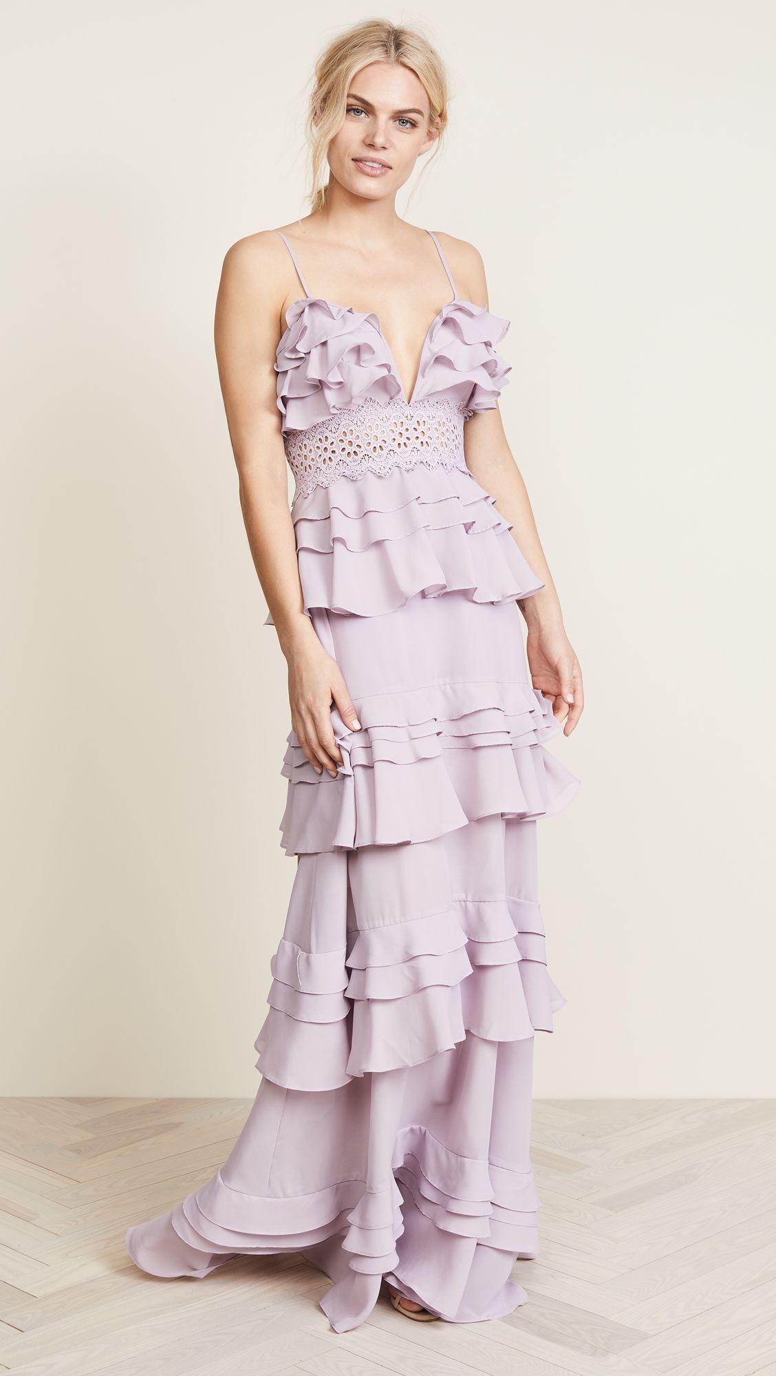 55ef8fe1046 Glamorous True Decadence Ruffle Gown