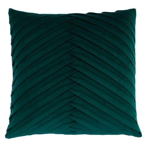 pleated velvet square throw pillow