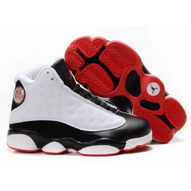 1b755a01a3de Kids Nike Air Jordan Shoes 13 White Black Red