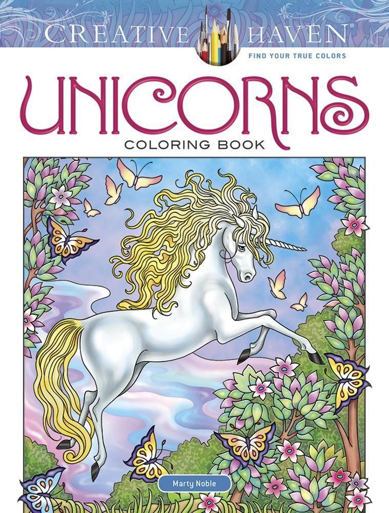 Creative Haven Unicorns Coloring Book Unicorns Pinterest