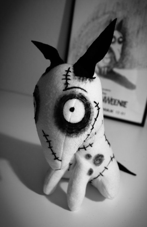 Sparky Frankenweenie Custom Art Doll Plush by MyLittleFandom