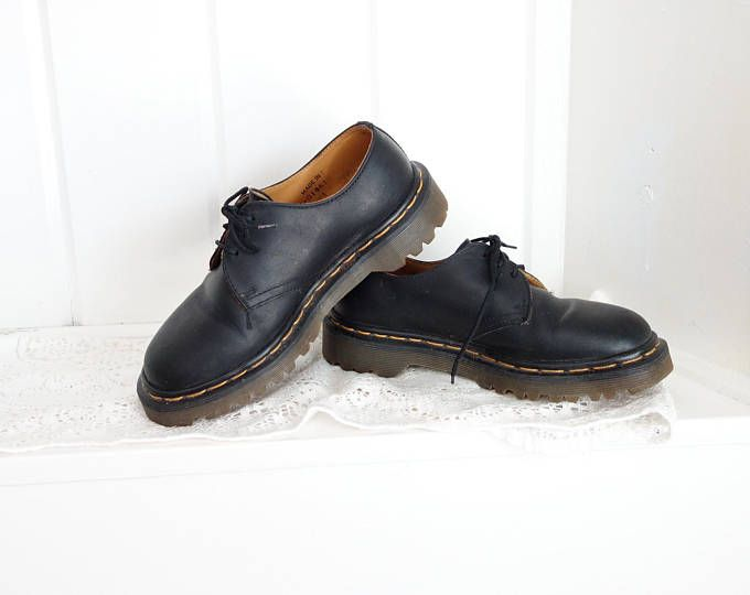 Vintage 1980's DR MARTENS DMs Clear Doc Martens Shoes from England womans  sz 5 1/2. Doc MartensOld SchoolLace UpOxfordsBlack ...
