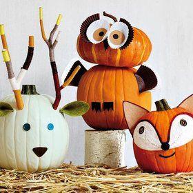 Ideas con encanto para decorar las paredes Pumpkin carvings