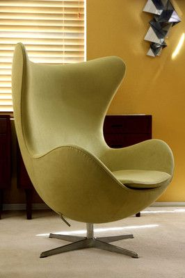 Arne Jacobsen Fritz Hansen Egg Lounge Chair Danish Modern Mid