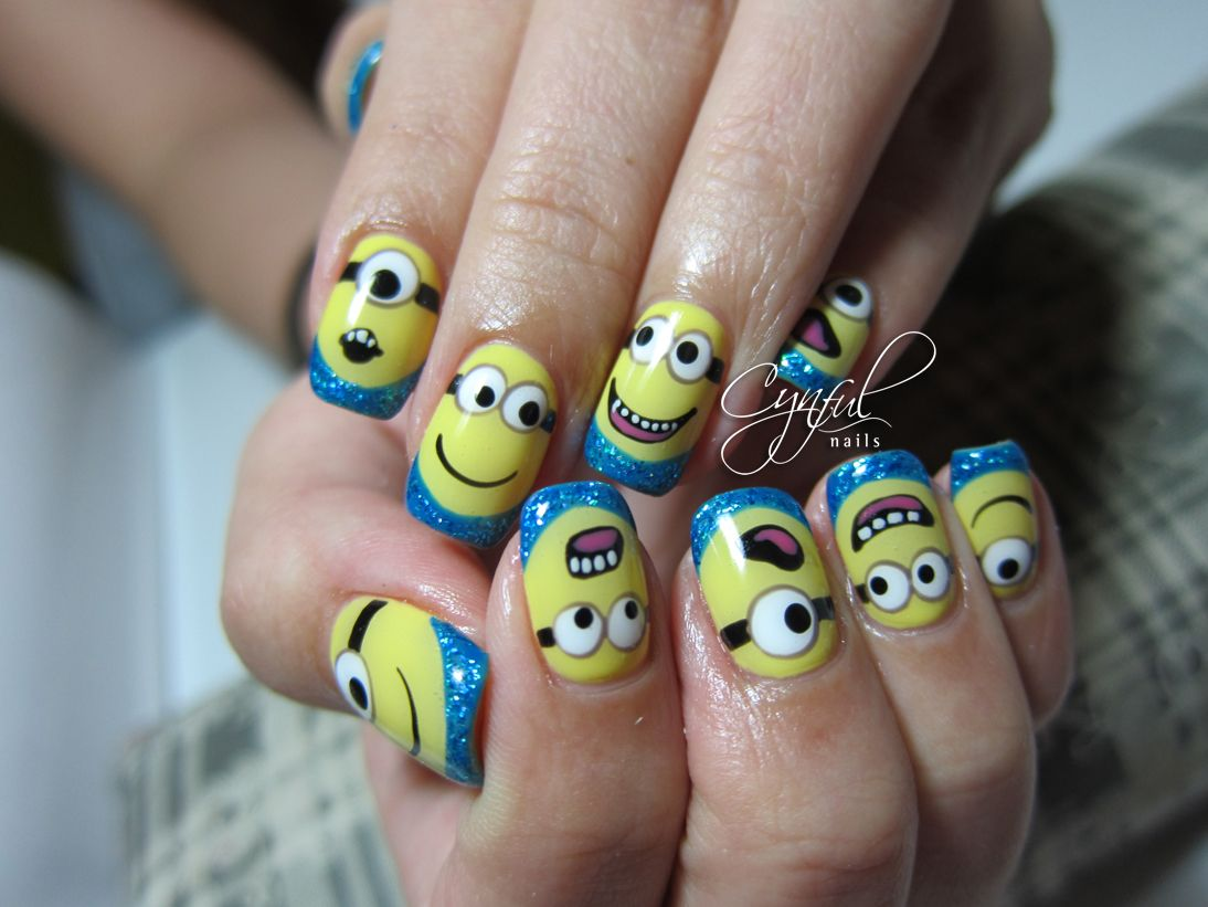 Minions from Despicable Me! Nail Designs! | Nails | Pinterest ...