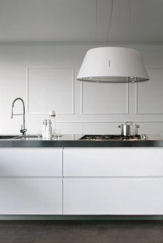 Cucina moderna ad isola living el 01 ambientazioni in - Cappe cucina sospese ...