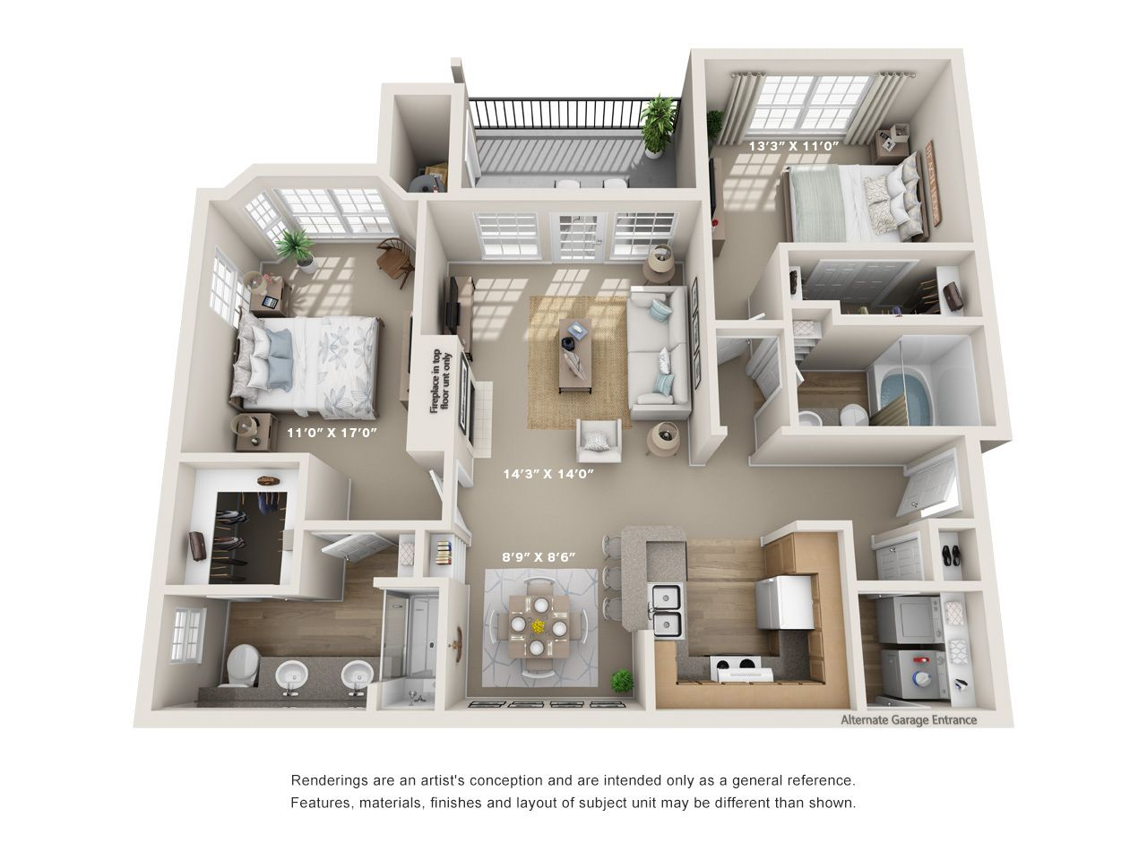 One Two And Three Bedroom Apartments In Austin Tx Austin Texas Apartment Steadfast Apartment Layout Bedroom Floor Plans Apartment Floor Plans