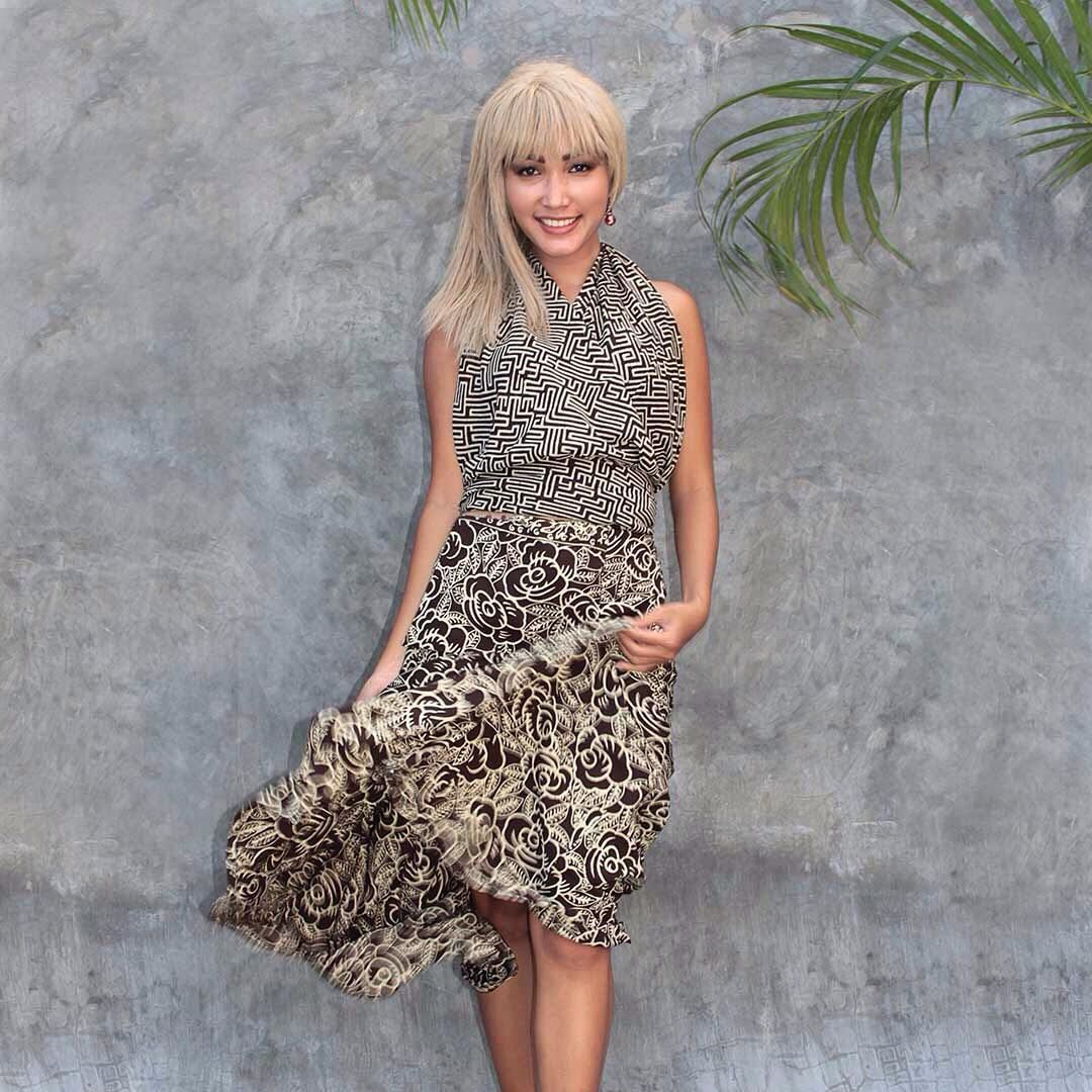 b9654f72fc8 Wrap top and skirt